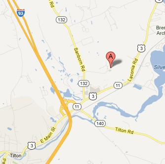 Image of a map of Spinnaker Contract Manufacturing's location in at 95 Business Park Dr Tilton, NH 03276